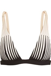 La Perla Voyage Laser Cut Triangle Bikini Top Black