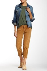 Free People Low Rise Roller Crop Pant Brown