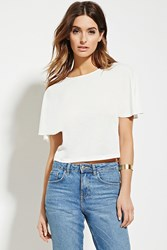 Forever 21 Contemporary Textured Top Ivory