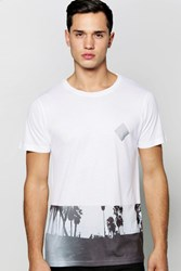 Boohoo Beach Sublimation T Shirt White