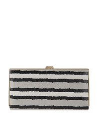 Lodis Montserrat Quinn Boxed Snake Leather Frame Clutch Grey