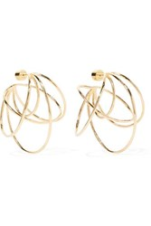 Jennifer Fisher Haywire Gold Plated Hoop Earrings One Size