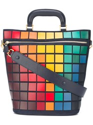 Anya Hindmarch Large Pixels Tote Blue
