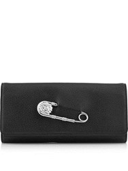 Versus By Versace Safety Pin Clutch Bag Black