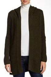 525 America Hooded Knit Cardigan Green