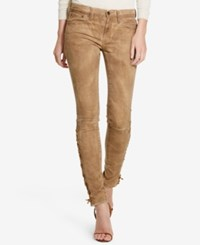 Polo Ralph Lauren Tompkins Lace Up Skinny Jeans Brown