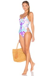 6 Shore Road Flower Girl's One Piece Swimsuit Purple