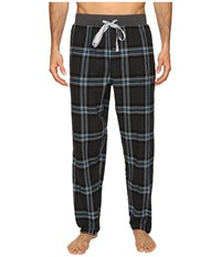 Kenneth Cole Reaction Open Bottom Pants Dark Grey Hester Plaid Men's Pajama Gray