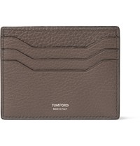 Tom Ford Full Grain Leather Cardholder Gray