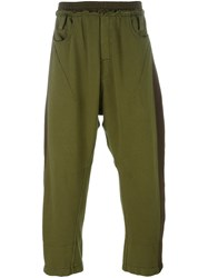 Haider Ackermann Cropped Track Pants Green