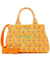 Prada Printed Cotton Canvas Tote Multicoloured