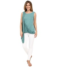 Miraclebody Jeans Gigi Side Drape Blouse W Body Shaping Inner Shell Patina Green Women's Blouse