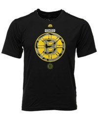 Majestic Men's Boston Bruins Solid Win Synthetic T Shirt