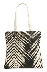 Rvca Chevron Stripe Cotton Canvas Tote