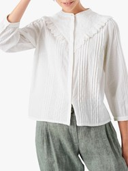 Brora Embroidered Yoke Blouse White