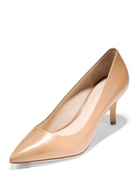 Cole Haan Vesta Grand Leather Point Toe Pumps Marine Blue Nude