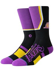 Stance Lakers Shortcut Socks Purple