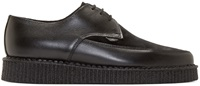 Underground Black Suede And Leather Barfly Creepers