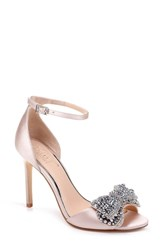 Jewel Badgley Mischka Zelina Bow Sandal Champagne Satin