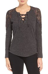 Wit And Wisdom Women's Lace Rib Knit Poor Boy Top