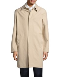 Cole Haan Topper Button Front Trench Coat Sand