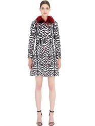 John Richmond Mink And Kiddasia Fur On Jacquard Coat