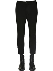 Ann Demeulemeester Viscose And Wool Pants Black