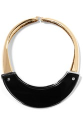 Marni Gold And Silver Tone Horn Necklace