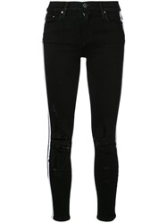 Amiri Side Stripe Jeans Black