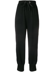 No Ka' Oi High Waisted Casual Track Pants Black