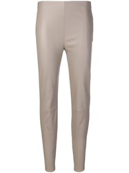 Lorena Antoniazzi Skinny Trousers Nude And Neutrals