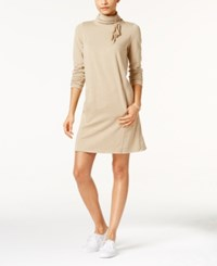 G.H. Bass And Co. Fleece Turtleneck Dress Taupe