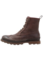 Sorel Madson Wingtip Waterproof Laceup Boots Madder Brown