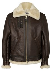 Schott Nyc Classic B 3 Brown Leather Bomber Jacket