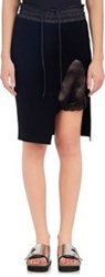 Sacai Luck Exposed Slip Rib Knit Skirt Black