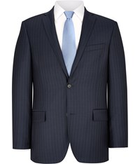 Austin Reed Navy And Blue Pinstripe Chelsea Jacket