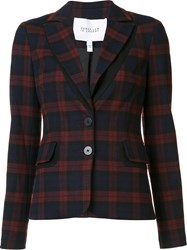 Derek Lam 10 Crosby Checked Blazer Red