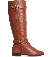 Office Kentucky Leather Riding Boots Tan Leather