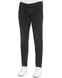 Rag And Bone Rag And Bone Five Pocket Distressed Skinny Jeans Black