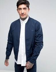 Fred Perry Tramline Bomber Jacket In Navy Midnight