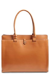 Lodis 'Audrey Collection Jessica' Leather Tote Brown Toffee