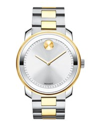 Movado 42.5Mm Bold Stainless Steel Watch Silver