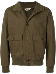 Aspesi Rib Trim Shirt Jacket Green
