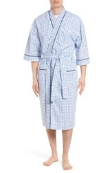 Majestic International All Hands On Deck Robe Anchor Gingham