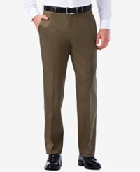 Haggar Premium No Iron Stretch Waist Classic Fit Pants Toast