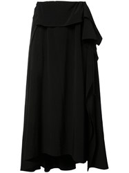 Y's Pleated Flare Skirt Black