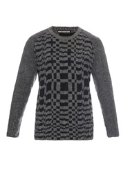 Issey Miyake Check Weave Wool Blend Sweater