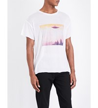 The Elder Statesman Favourite Cashmere And Silk Blend T Shirt White