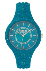 Versus By Versace Women's Fire Island Silicone Strap Watch 39Mm Green