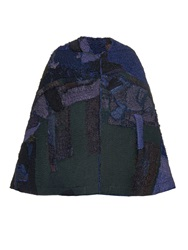 By Walid Vintage Patchwork Chinese Silk Cape
